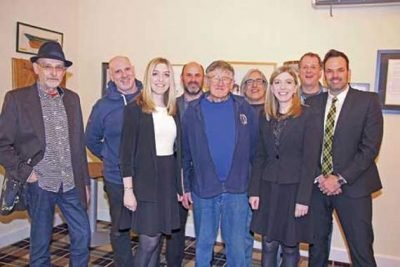 twin harmony raise money Cornish singers